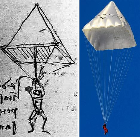 Parachute that Da Vinci drew is made to work... after 523 years ...