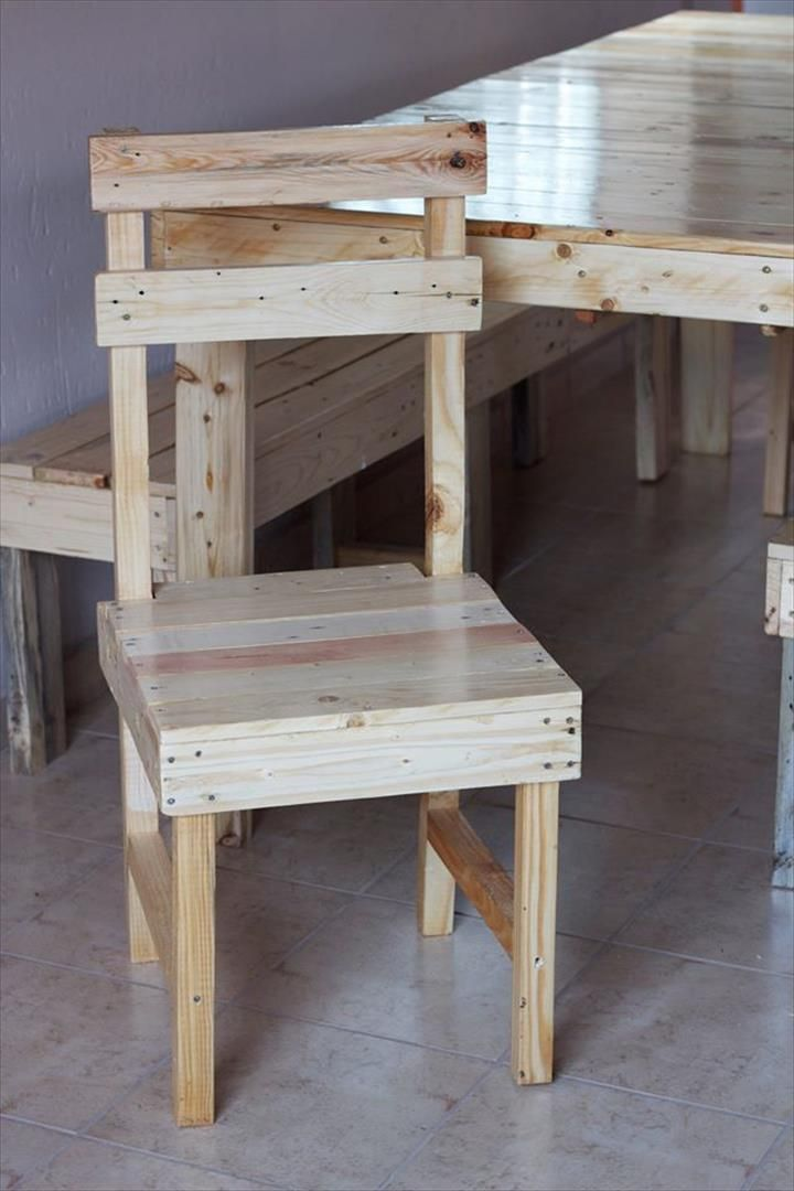 Attractive DIY Pallet Farmhouse Dining Furniture Set | 99 Pallets