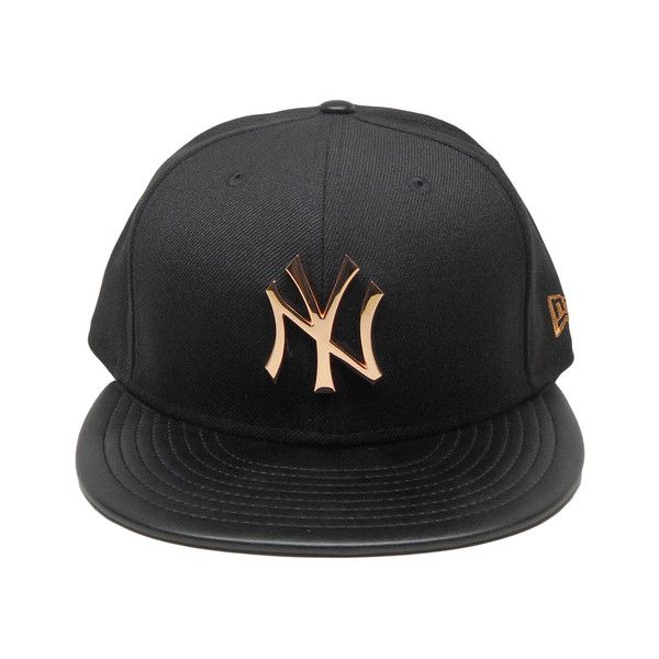 New York Yankees New Era Hardware Logo 59fifty Fitted Hat Black Rose Liked On Polyvore Featuring Accessories Hats Yankees Hat Fitted Hats Clothes Design