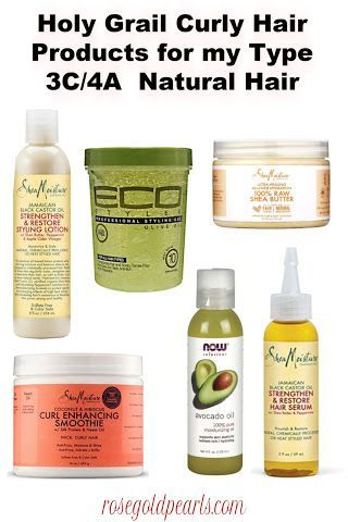 The Best Curl Defining Natural Hair Products for Type 3c/4a Hair | Rose Gold Pearls