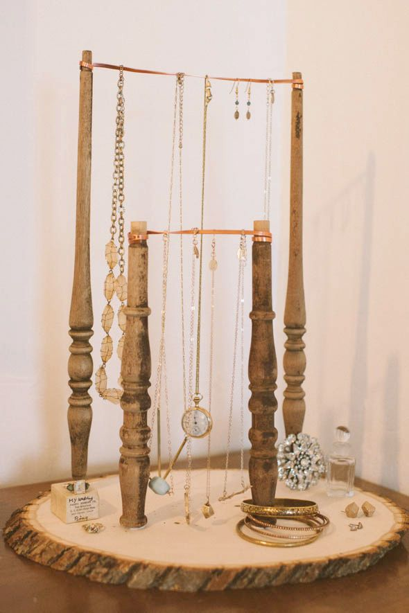 Jewelry Stand jewelry creative diy organization jewelry stand tree slice spindles