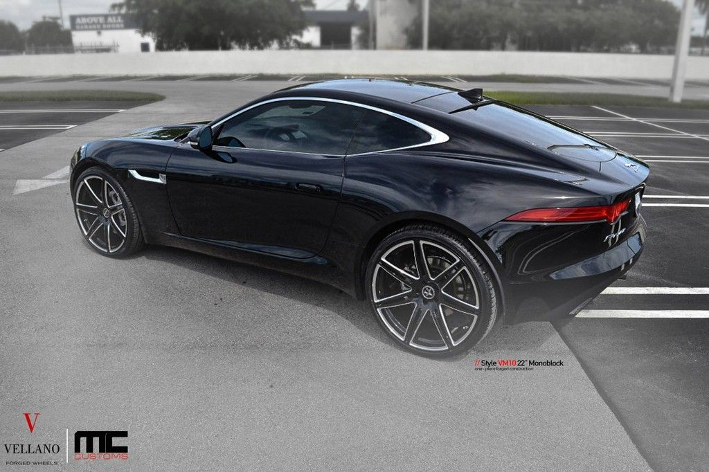 Jaguar F Type Coupe On Black Vellano 22s In 2020 Jaguar F Type Jaguar Coupe