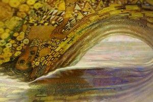 Richard Morrison, painting, surf art, wave art, enviro surf art series