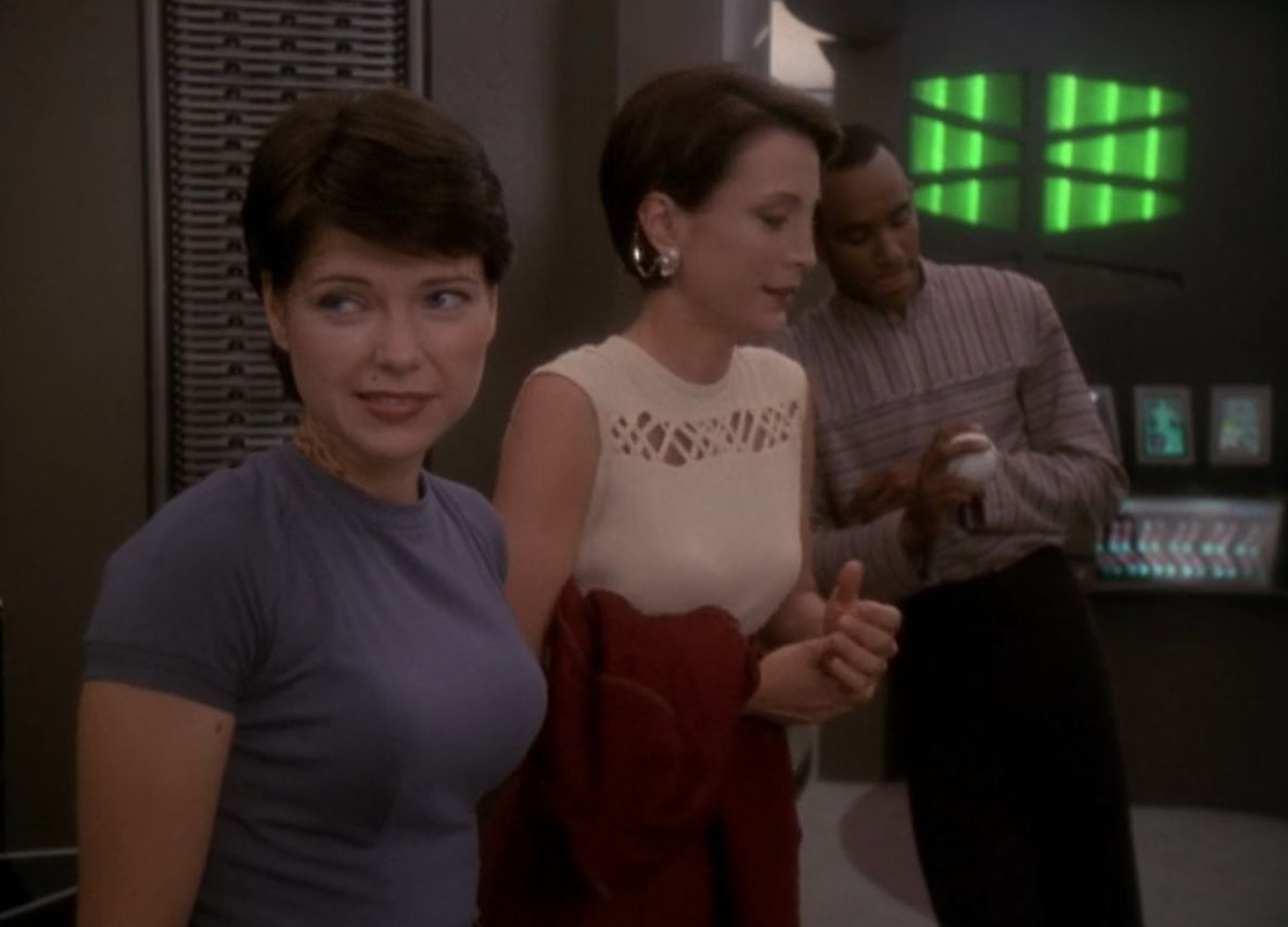 DS9 Season 7 Episode 4 Take Me Out to the Holosuite