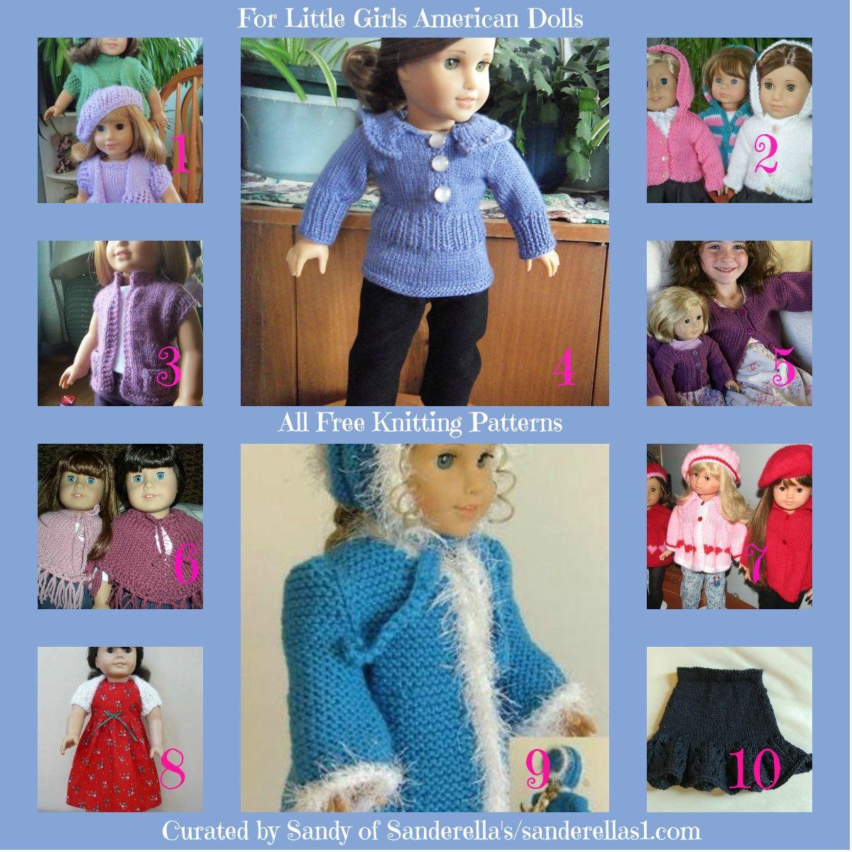 Free knitting patterns for American Girl Dolls sanderellas1.com ...