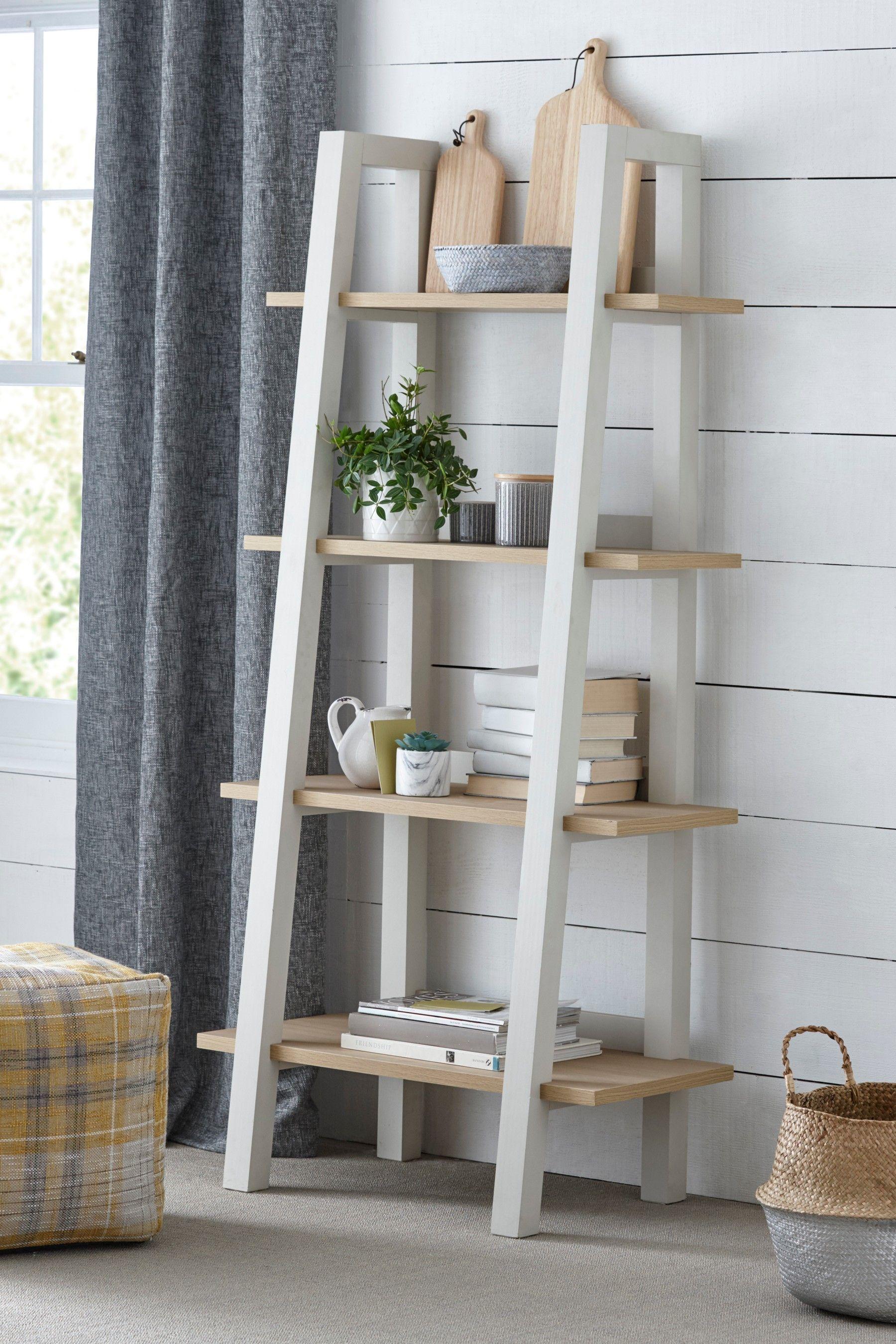 Next Malvern Ladder Shelf Cream In 2020 Ladder Shelf Shelves Bookcase