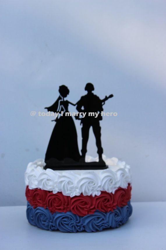 Military Army Solr Wedding Cake Topper Groom By Carolinacarla
