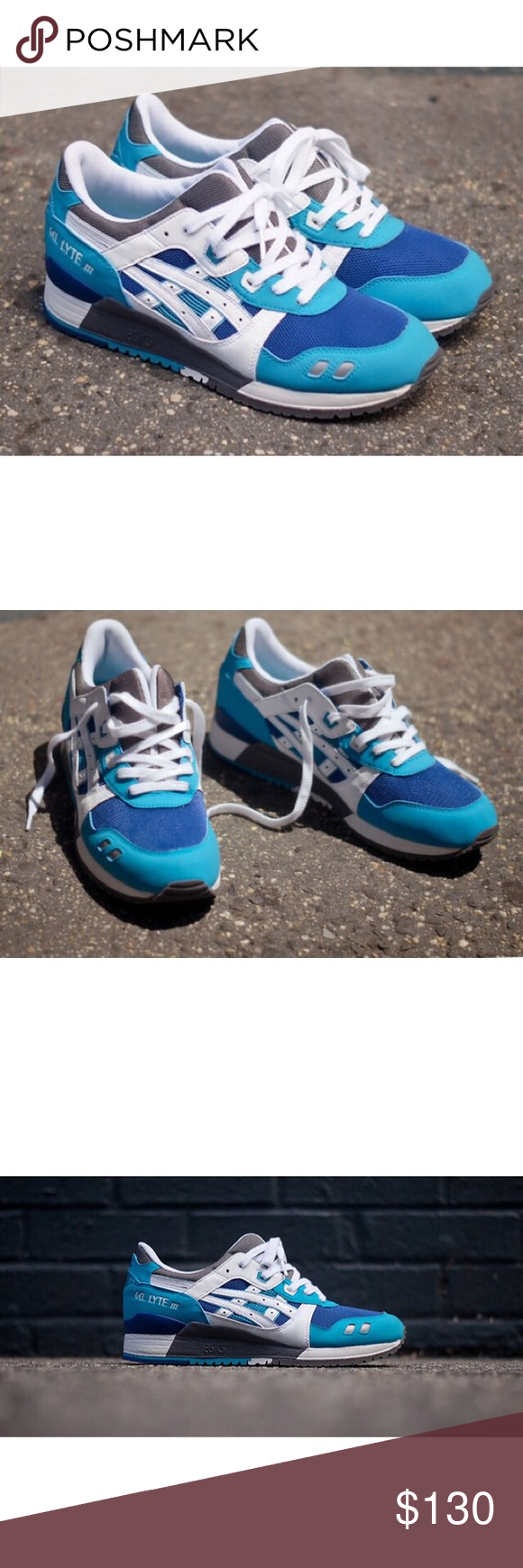 ASICS Kith Gel Lyte III ASICS Gel Lyte III Blue - White - Grey originals from Ronnie Feig and KITH. Great condition Asics Shoes Sneakers #feig