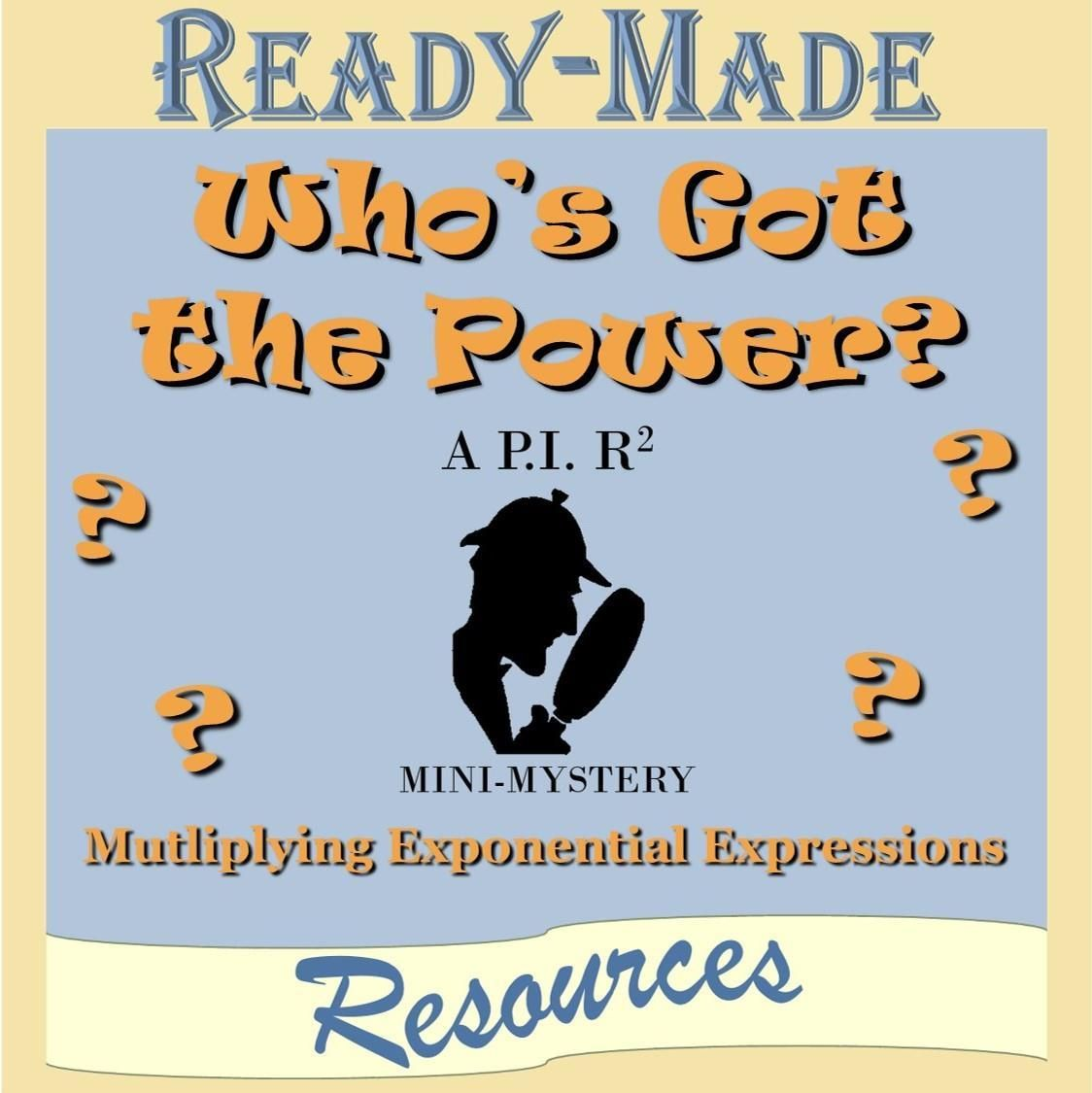 Multiplying Exponential Expressions Mystery Activity