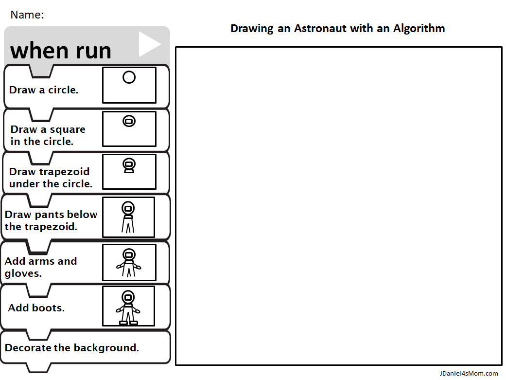 Drawing An Astronaut With Pictures And Words