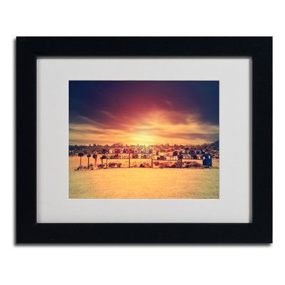 """Trademark Art """"Horizontal"""" by Philippe Sainte-Laudy Matted Framed Photographic Print Size: 11"""" H x 14"""" W x 0.5"""" D, Frame Color: Brown"""