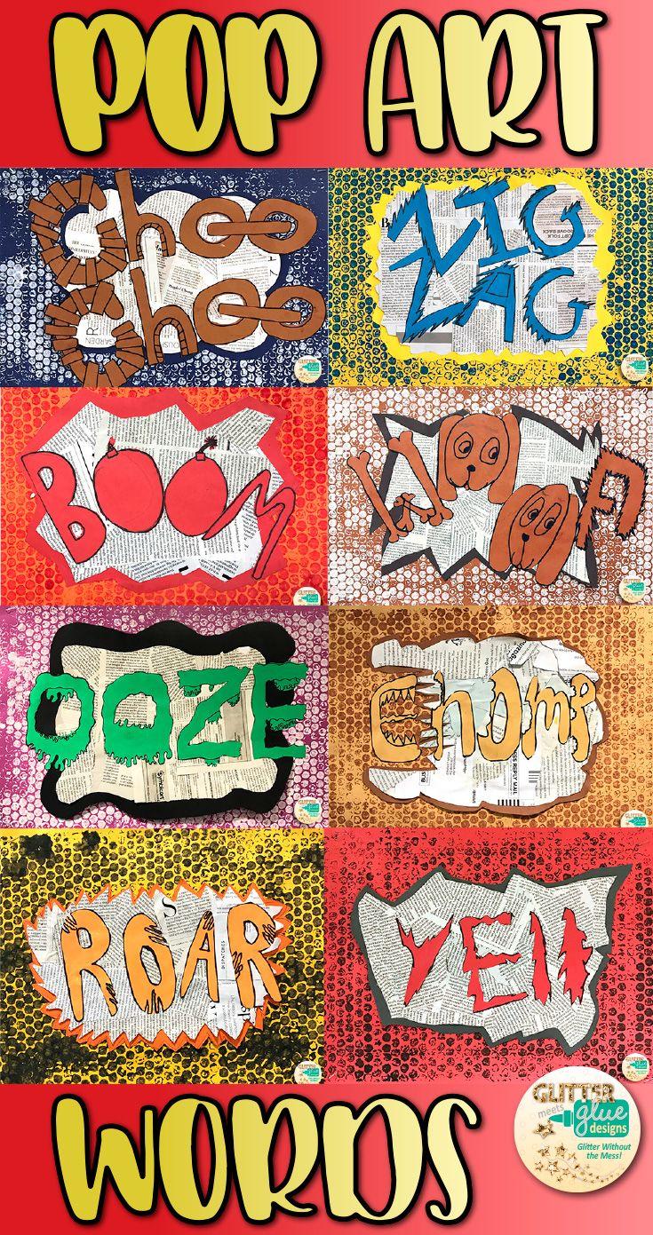 Onomatopoeia Pop Art Word Projects | Pinterest | Zeichnen für kinder ...
