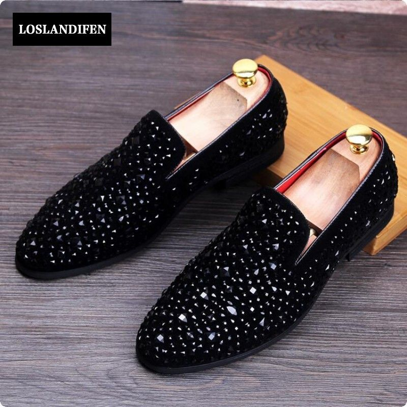 Diamond Pattern Breathable Fashion Sneakers Running Shoes Slip-On Loafers Classic Shoes