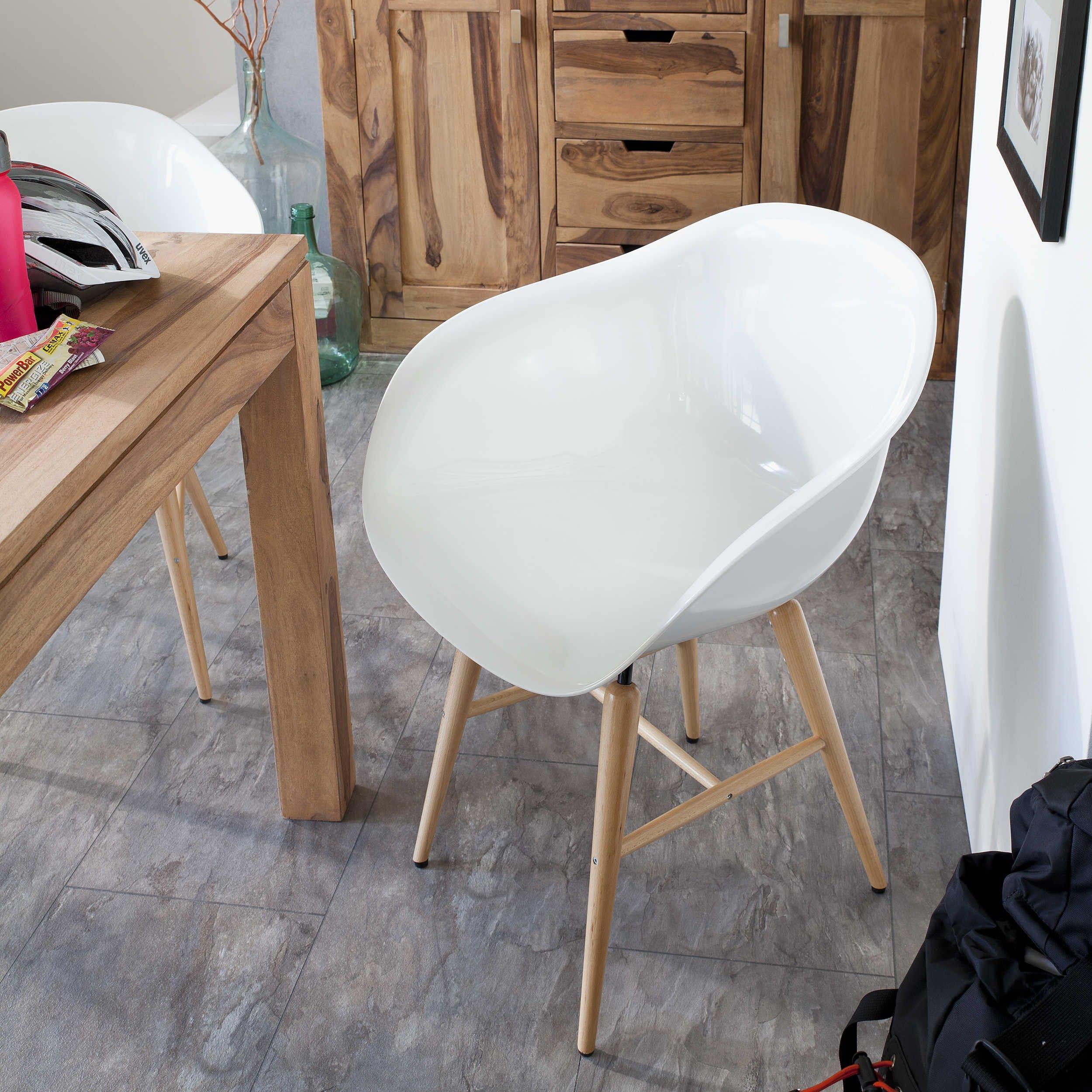 Kare Stuhl Forum Wood, Weiß   4 Fuß Stühle   Stühle U0026 Freischwinger    Esszimmer