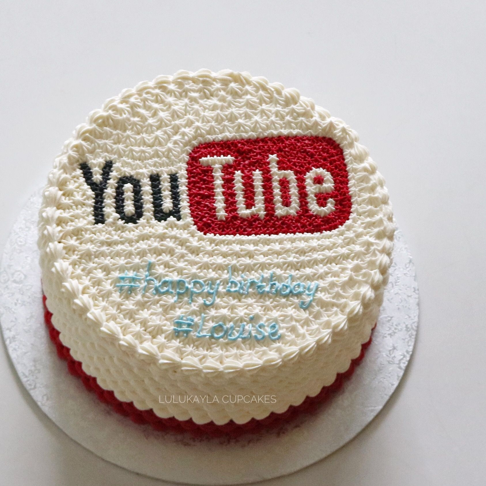 Youtube Themed Buttercream Cake With Images Butter Icing Cake