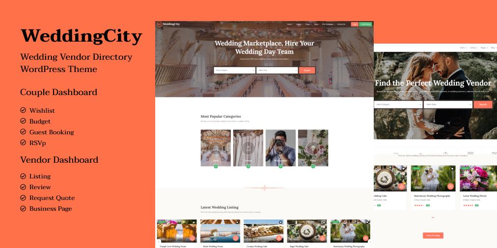 Wedding Venue Finder Wordpress Theme Wedding Business Wedding Guest List Wedding Directory