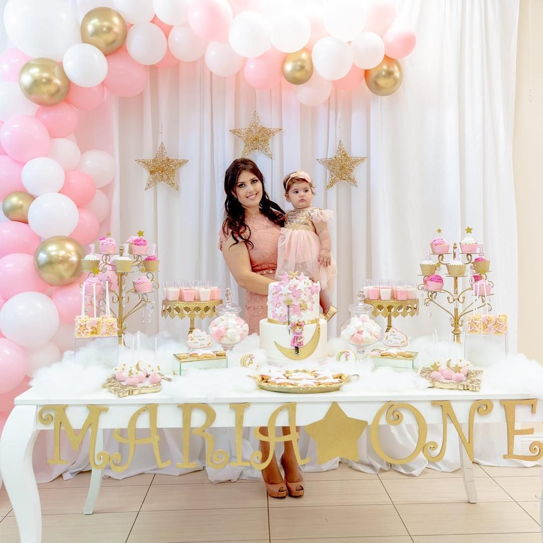 Twinkle Twinkle Little Star 1st Birthday Backdrops By Anna Alagulyan Ca 1st Birthday Girl Decorations Baby Girl Birthday Theme Girl Birthday Decorations