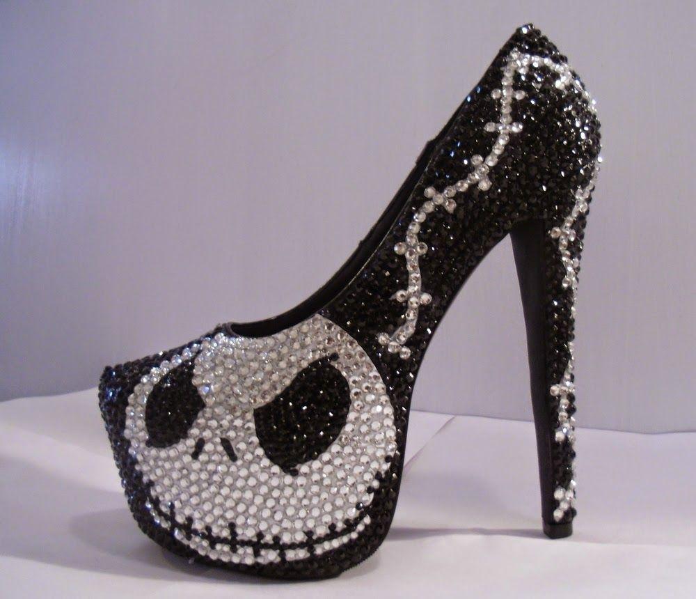 Jack skeletor excelentes dise os de zapatos tac n aguja for Diseno de zapatos