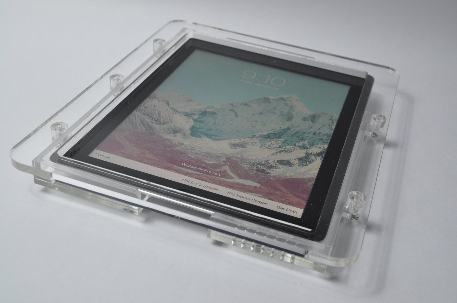 New Ipad Acrylic Enclosure Made Of 8 Mm Acrylic Material Old Ones Was 5 Mm Clear Acrylic Tablet Mount Acrylic