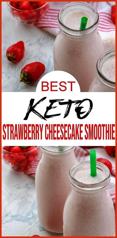 Strawberry Cheesecake Smoothie BEST Low Carb Keto Strawberry Shake Recipe Easy NO Sugar Keto smooth