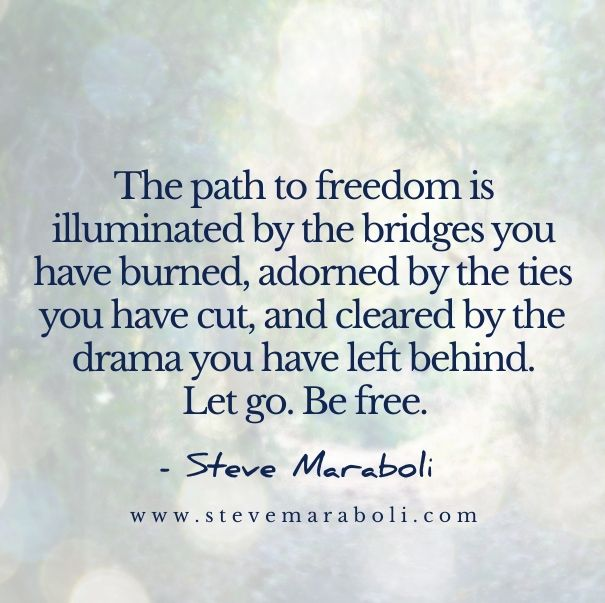 The Path To Freedom Is Illuminated By The Bridges You Have