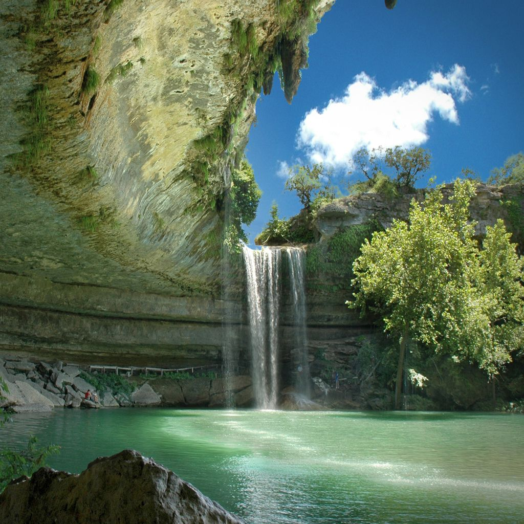 Mountain Waterfall Wallpaper Hamilton pool, Hamilton