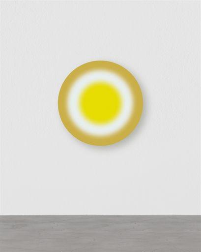 Ugo Rondinone (b. 1963)   ersteraprilzweitausendunddreizehn   acrylic on canvas   diameter: 31½ in. (80 cm.)   Painted in 2013.