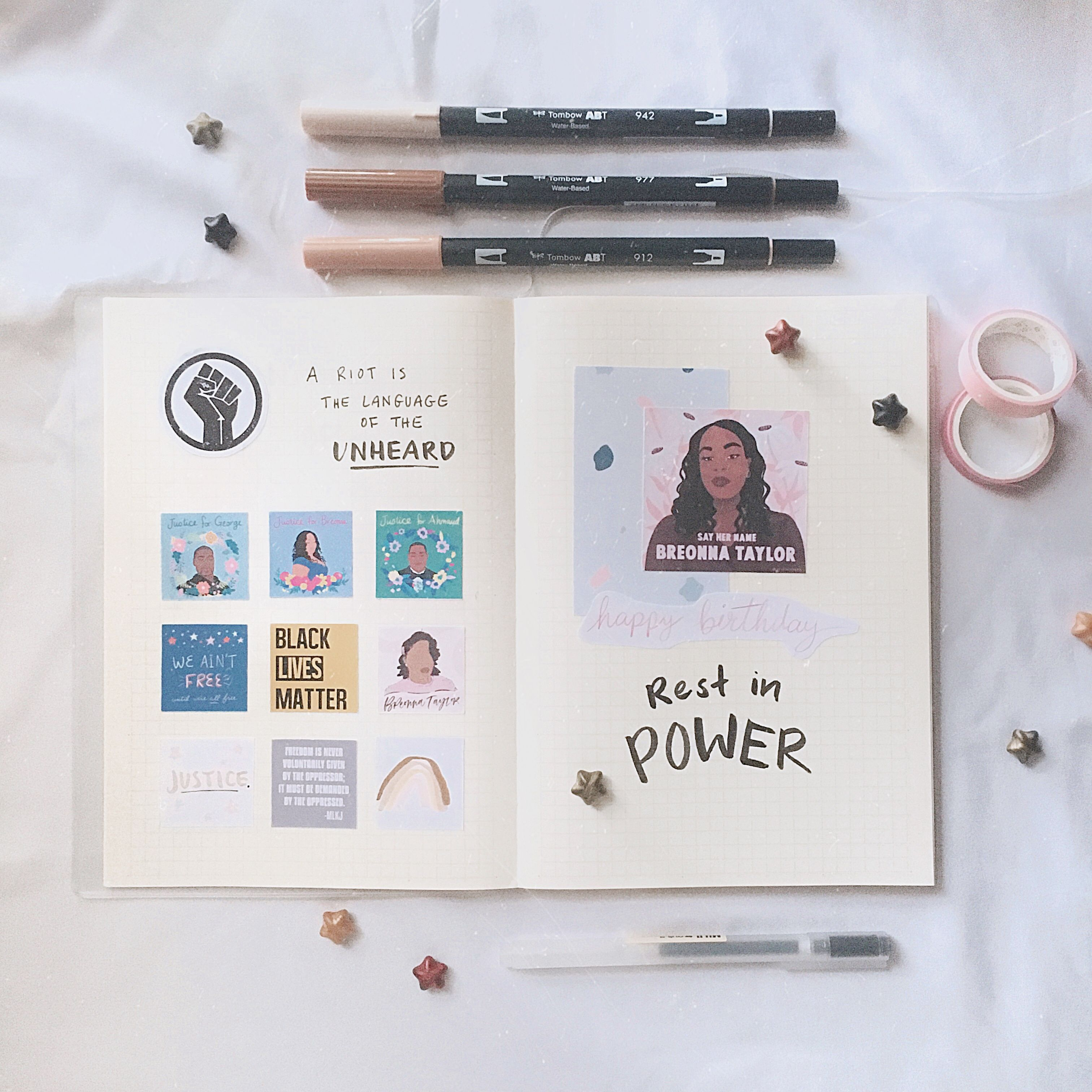 Justice For Breonna Taylor Creative Journaling In 2020 Bullet Journal Inspiration Creative Journal Bullet Journal Aesthetic