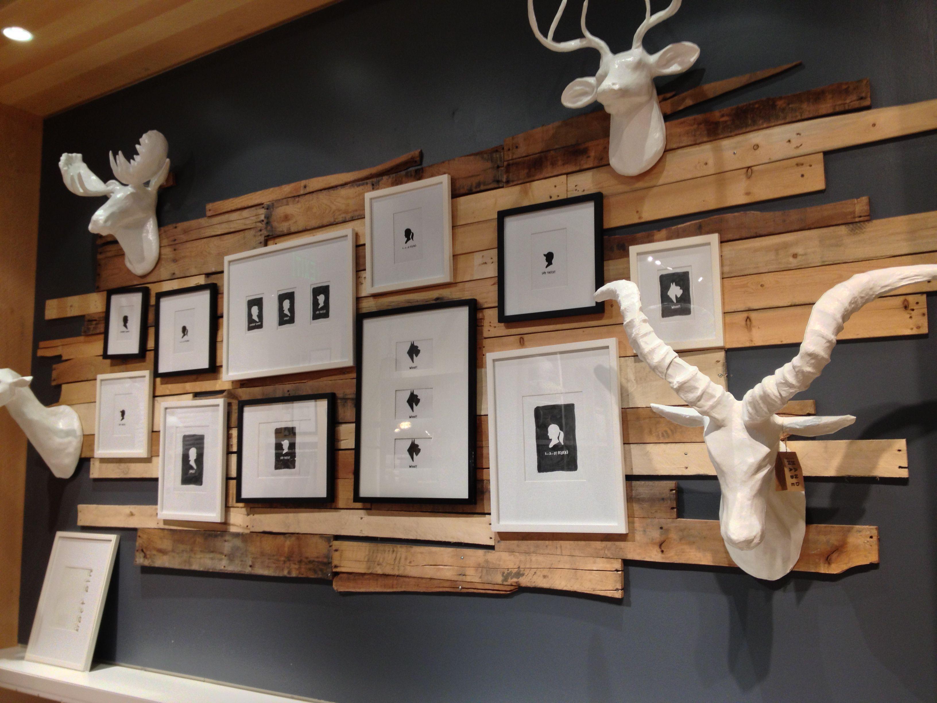 west elm plank photo wall finished basement ideas pinterest