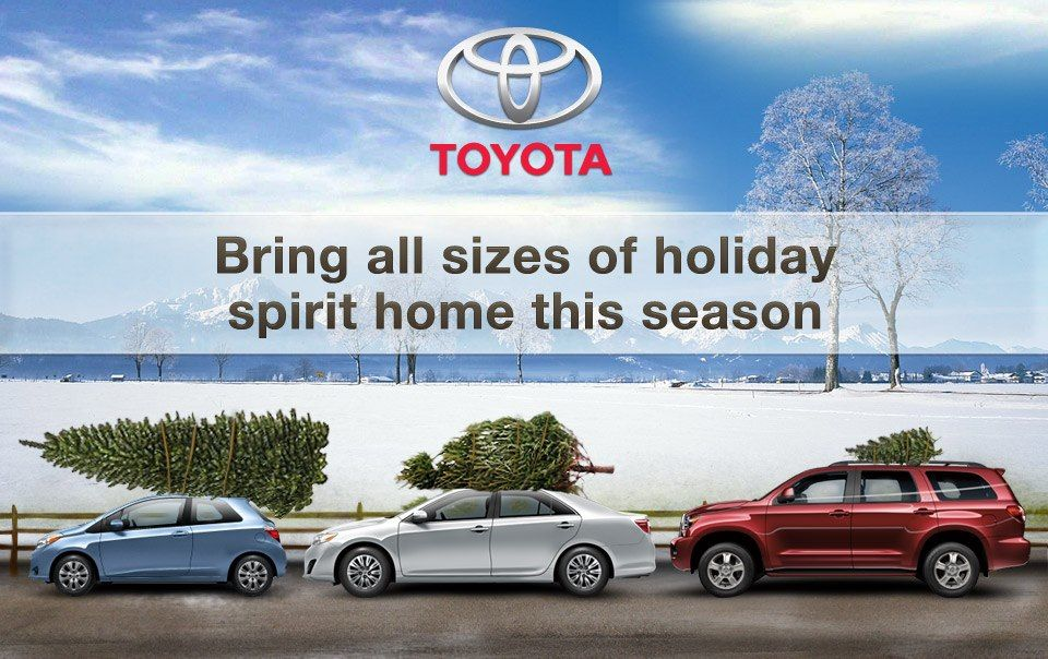 We love holiday spirit, no matter the size. toyota