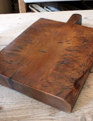 """Wooden Antique Style CHEESE Cutting Board Wood Serving Tray Primitive 25/"""""""