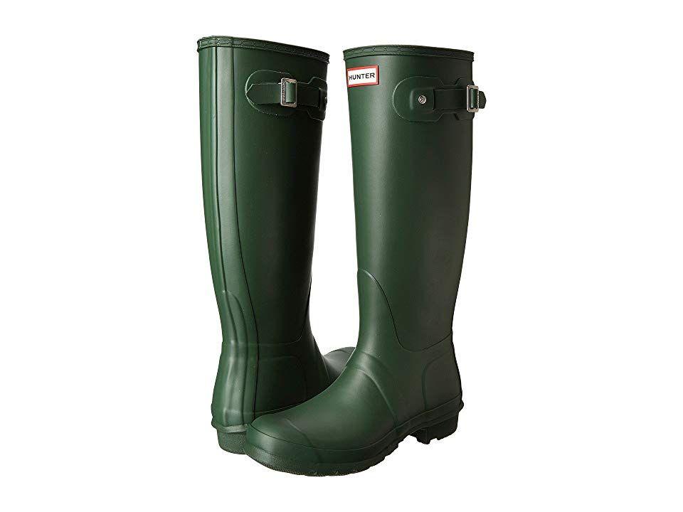Hunter Original Tall Women S Rain Boots Hunter Green Green