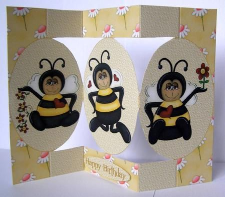 This design has 3 cute little bumble bees.  This card can be used for many different occasions.