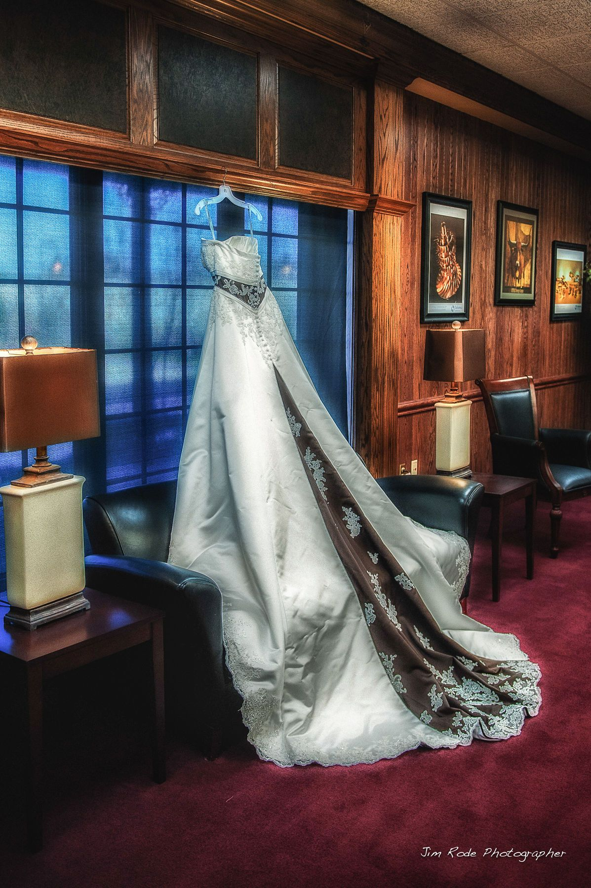 Such a gorgeous gown...dramatic. At the Ruthe Jackson Center in Grand Prairie. photo by Dallas wedding photographer Jim Rode at JimRode.com