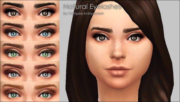 mod the sims: natural eyelashes -5 colorsvampire_aninyosaloh
