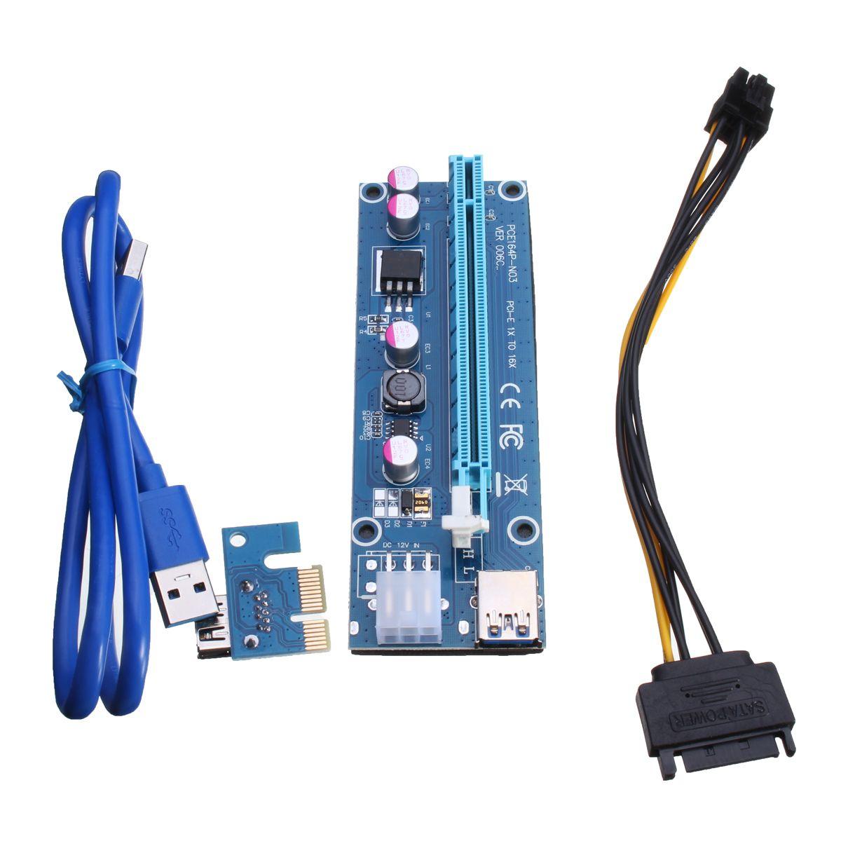 6pin USB3.0 PCI-E Express 1x a 16x Extensor Adaptador de tarjeta ...