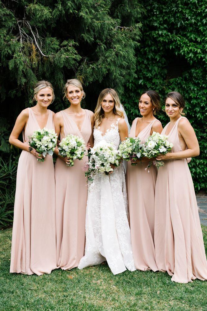 Bridesmaids Dresses Bridal Party Elegant Bridesmaid Dresses Blush Bridesmaid Dresses Long Pink Chiffon Bridesmaid Dress