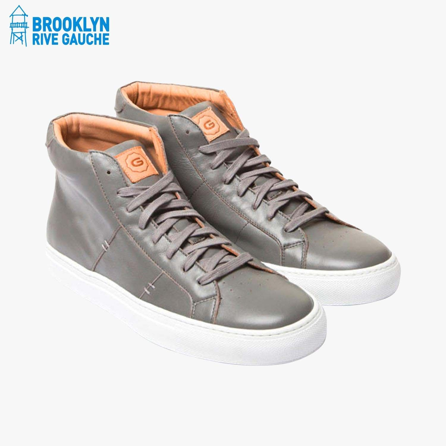 Baskets The Royale High grises - Greats #LeBonMarche #Tendance #LeDressing #Dressing #Brooklyn #fashion #mode #man #homme #Bk #USA #shoes #chaussures #BrooklynRiveGauche