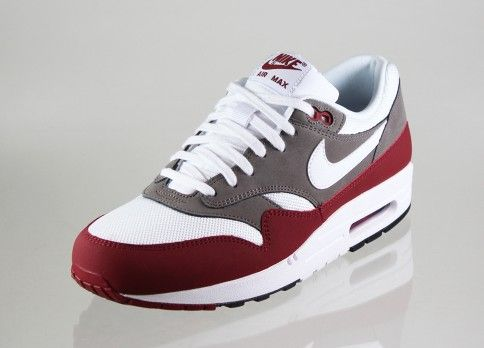 Nike Men's Running Shoes Air Max 1 Essential Team Red/White/Petra Brown/Black