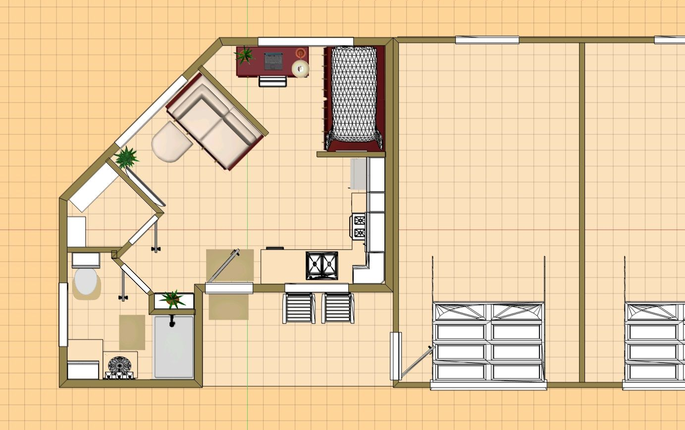 The 340 Sq Ft Small House Floor Plan Sunset Small House Floor Plans House Floor Plans Tiny House Cabin