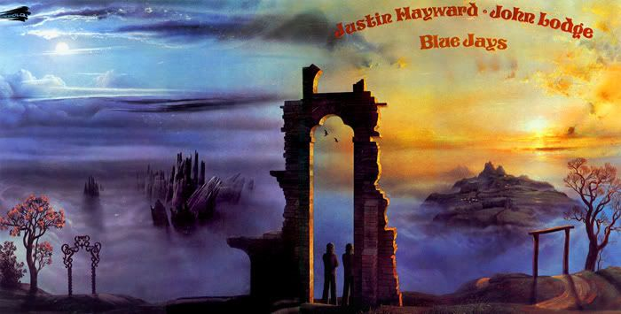 1987 Justin Hayward John Lodge Blue Jays Threshold 820491 2 Artwork Phil Travers Albumcover Full Illustration