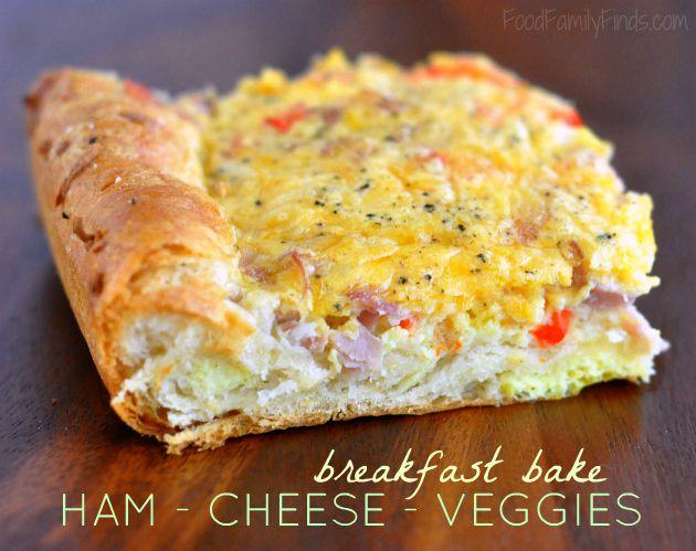 Breakfast Bake with Ham, Egg, Cheese & Veggies Recipe