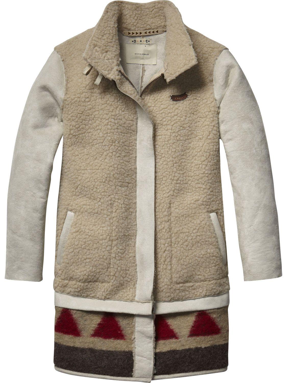 Faux Lammy Jacket   jackets   Girls Clothing at Scotch   Soda ... 03a01e92e887