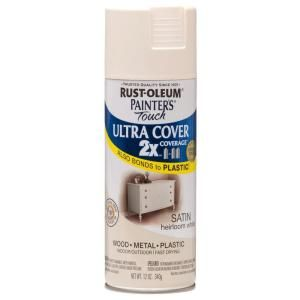 Rust Oleum Painter S Touch 2x 12 Oz Satin Heirloom White General Purpose Spray Paint 249076 At The Home Depot