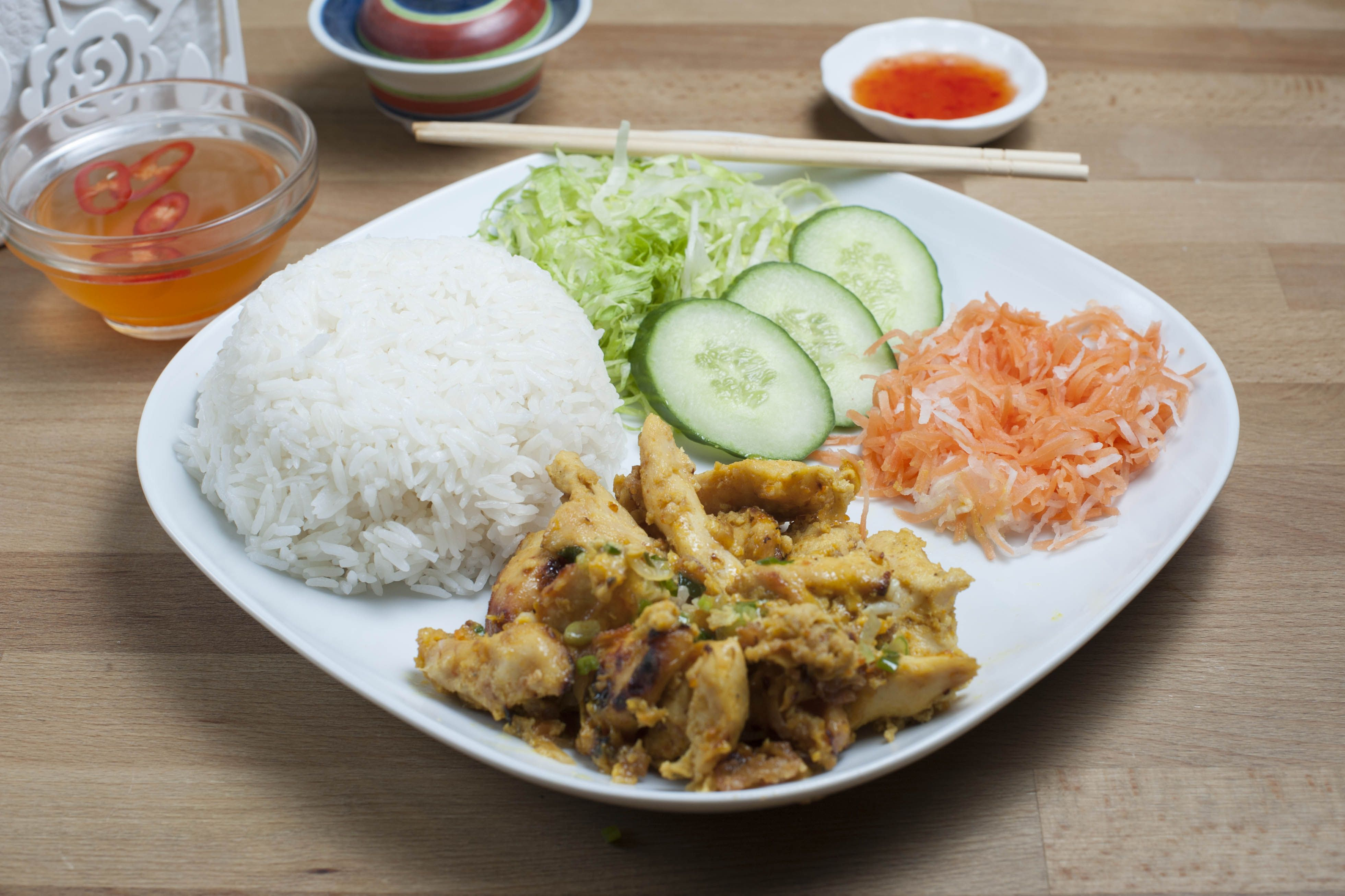 Rice Dishes - Satay Chicken Rice (Steamed)