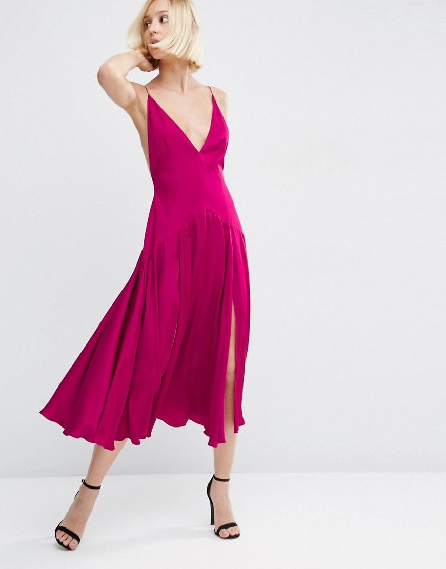 Cheap ASOS Cami Panelled Midi Swing on sale