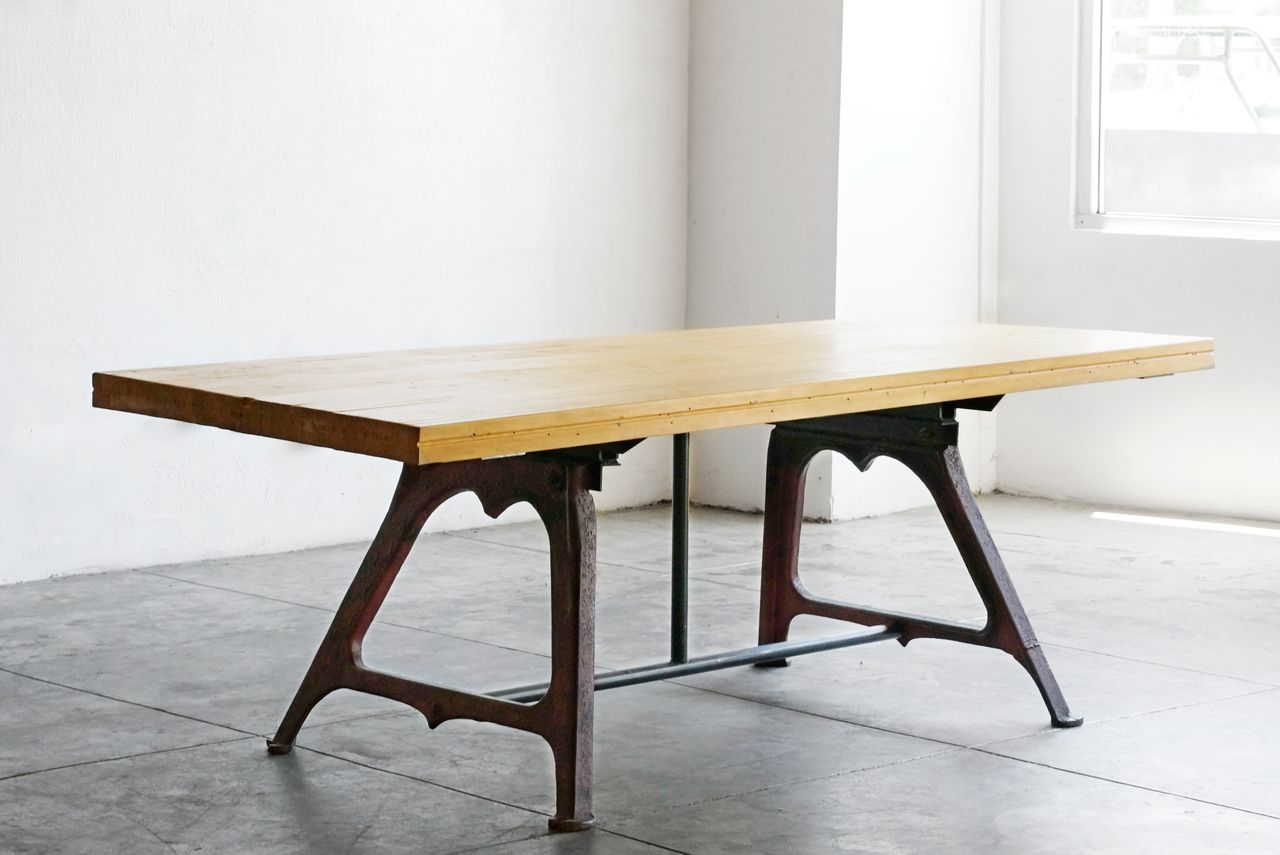 Contemporary dining table bases  SOLD  Dining Table Antique Bases Maple Bowling Lane  Home