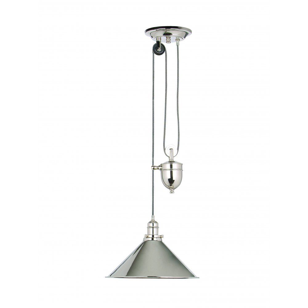 Elstead Lighting Provence Single Light Rise and Fall Pendant with ...