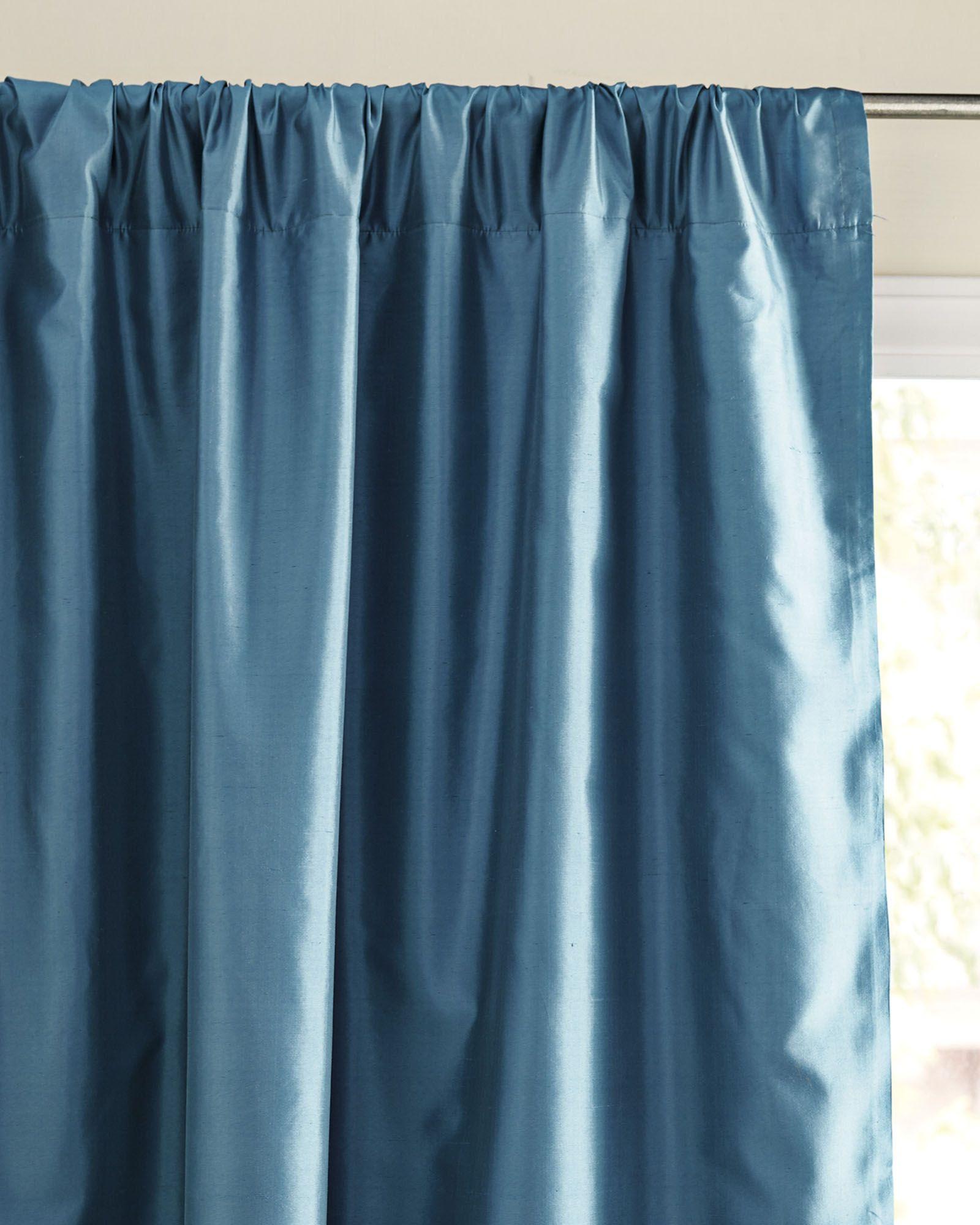 Serena Lily Silk Shantung Window Panel Window Panels Curtain