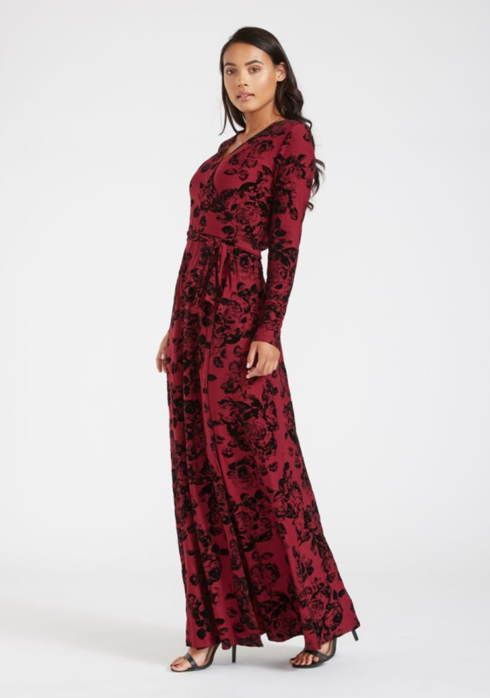 82e02a59 The new fierce, flattering, and seductive wrap dress. Designed for tall  women, with long sleeves, super soft fabric, and extended length.